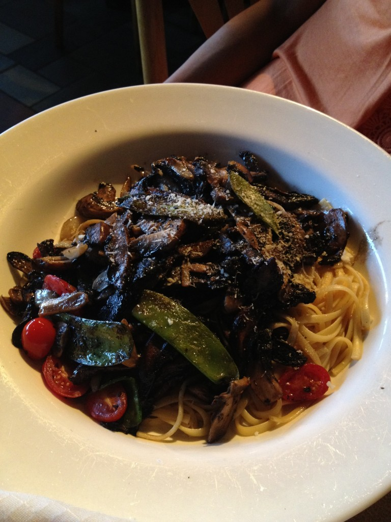 linguini portobello